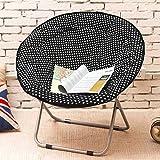 Klappbarer Lounge Sessel im Juli Großer Erwachsener Mond-Stuhl Sun Stuhl-fauler Stuhl-Radar-Stuhl-Recliner-Klappstuhl-Runder Stuhl-Sofa Chair (Farbe : 3)