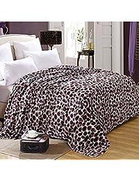 shinemoon todos temporada Cubierta suave de cama de franela hojas sofá manta para adultos niños ligero al aire libre viajar Camping resto mantas para el frío