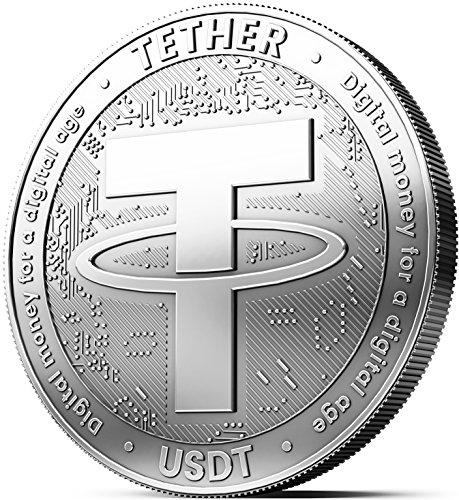innoGadgets Physische Tether Medaille mit Echt-Silber überzogen. Wahres Sammlerstück mit Schutzhülle, Münzkapsel. EIN Muss für jeden Tether-Fan (Elektronik-tether)