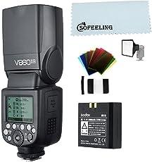 Godox V860II-N i-TTL 2.4G GN 60 TTL HSS 1 / 8000S batteria al litio Flash per fotocamera singola Nikon DSLR (V860II-N)
