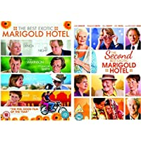 Marigold Hotel 1-2 Complete DVD Collection : The Best Exotic Marigold Hotel / The Second Best Exotic Marigold Hotel + Special features by Maggie Smith
