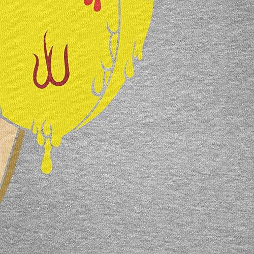 TEXLAB - Chu Ice Cream - Herren Langarm T-Shirt Grau Meliert