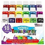 Best US Art Supply Kid Art Supplies - U.S. Art Supply 18 Color Children's Washable Tempera Review