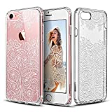 ESR iPhone 7 Funda, Carcasa iPhone 7 Case Cover Borde Suave + Duro Funda para iPhone 7 4.7' - Paisley garnacha
