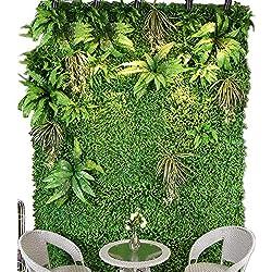 Panneau De Mur Artificiel De Plante De Haie, Écran De Clôture De Confidentialité,Upgrade