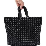 Lawei 50 wiederverwendbare Einkaufstaschen mit Griff – 39,1 x 30,5 cm, Einkaufstaschen für Einkaufen, Einzelhandel, Geschäft