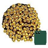 Yasolote 20M Ghirlanda di Luci a Batteria 8 Modalità 200 LED Stringa di Luci Esterna e Interioor Impermeabile per Arredare Patio, Giardino, Terrazza, Matrimonio, Festa, Natale