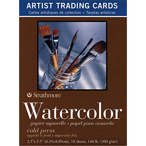 Artist Trading Card (Strathmore 105-904 400 Series Aquarell Künstler-Sammelkarten, kaltgepresste Oberfläche, 10 Blatt)