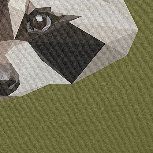 Texlab–Poly Racoon–sacchetto di stoffa Oliva