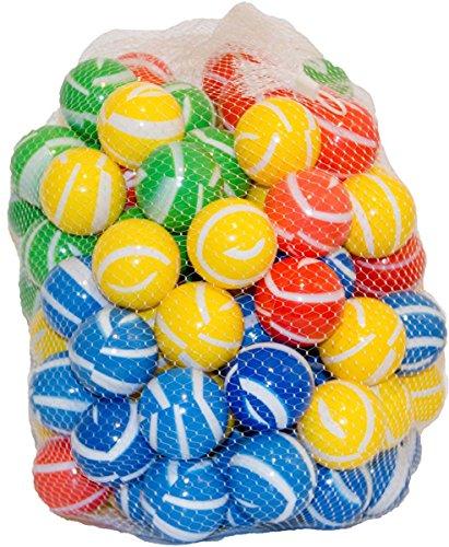 100 Bälle gestreift für Bällebad, Spielbälle Kunststoffball Spielball Babyball
