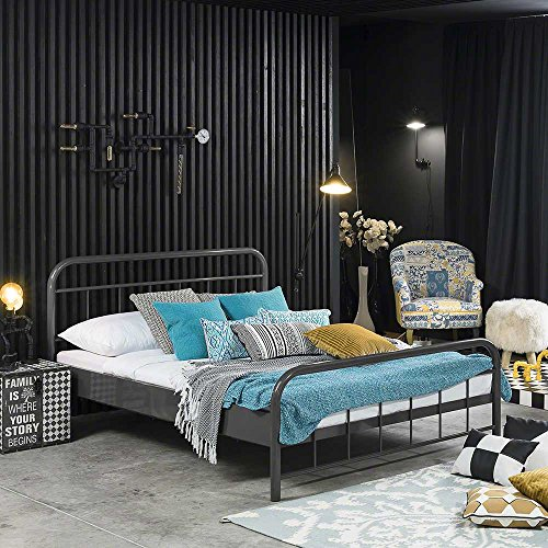 Pharao24 Bett in Grau Eisen