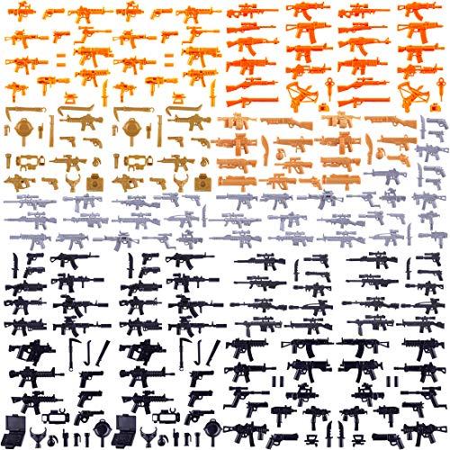 15000P 258St. Custom Waffen Set für SWAT Team Polizei Soldaten Mini Figuren, passen zum Lego