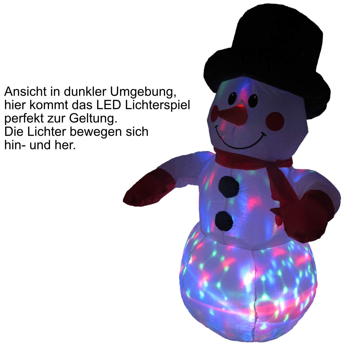 Selbstaufblasender-Schneemann-mit-LED-Lichterspiel-120-cm-inkl-Spannseilen-und-Heringen-Deko-Figur-mit-bunten-Lichtern-fr-Auen-und-Innen