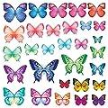 DECOWALL 30 Leuchtende Schmetterlinge Tiere Wandtattoo Wandsticker Wandaufkleber Wanddeko für Wohnzimmer Schlafzimmer Kinderzimmer(1302 8029) von DECOWALL bei TapetenShop