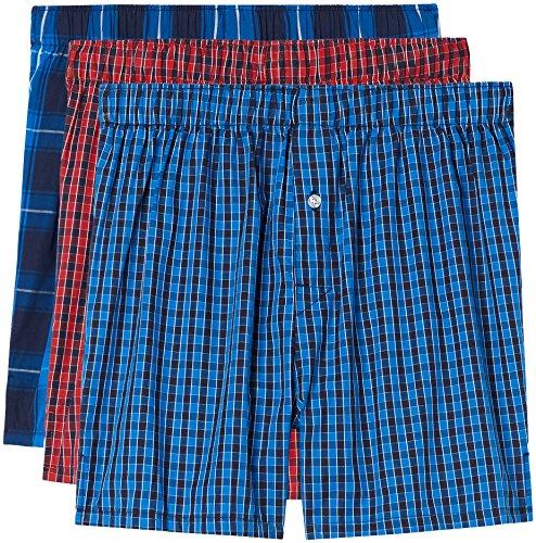 Underwear Herren Boxershorts mit Karomuster im 3er-Pack Mehrfarbig (Multicoloured)