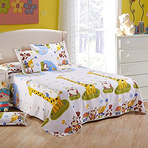 double sheets/ cartoon printed bed sheets-N 180x230cm(71x91inch)
