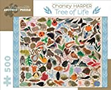 Charley Harper Tree of Life 500-Piece Jigsaw Puzzle Aa708 (Pomegranate Artpiece Puzzle)
