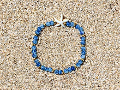 Seestern Armband * blaue Glasperlen * edel & fein