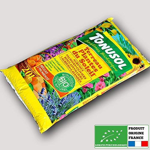 Tonusol - Terreau biologique agrumes et plantes du soleil. Tonusol 20 litres