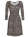 Vive Maria Leo Pin-Up Kleid leopard allover-Druck, Größe:L