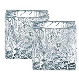 Spiegelau & Nachtmann, 2er-Set Votiv, Kristallglas, Höhe: 7 cm, Ice Cube, 0090029-0