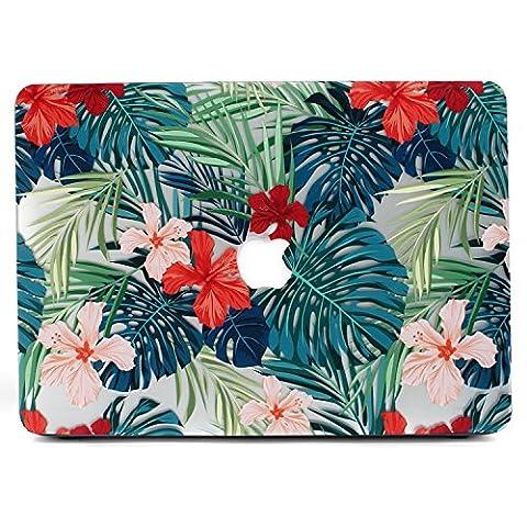 MacBook Air 11 Hülle, L2W Matte Print Tropische Palme Blätter Muster Beschichtet PC Harte Schutzhülle Abdeckung für Macbook Air 11
