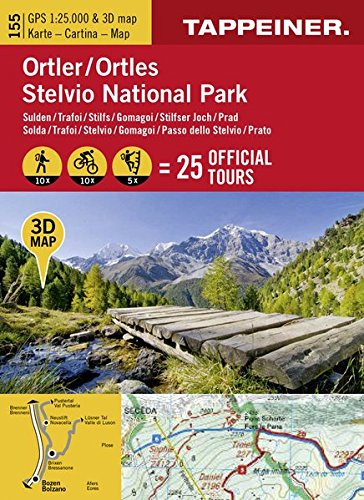 Ortler/Stelvio national park. Carta 3D