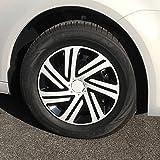 (Größe & Design wählbar) 14 Zoll Radkappen Cyrkon Schwarz-Weiß passend für fast alle Fahrzeugtypen (universal)