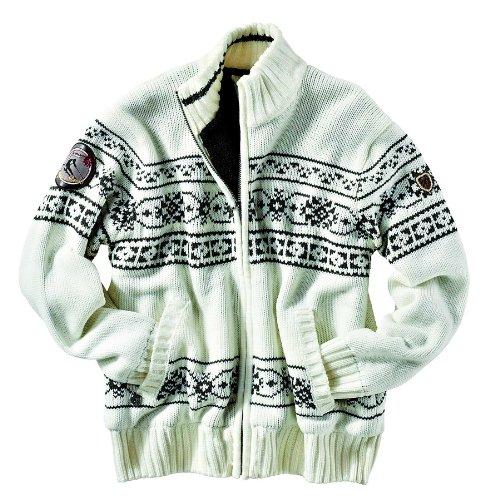 Northland Professional Joseph Knit-Giacca da uomo Bianco off-white/anthracite XXL
