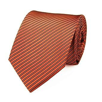 Cravate faux uni rouille