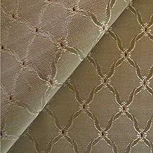 Clarice 'enrejado de oliva': plana verde-de tapicería de sofá cojín tela retardante de llama Material de telas Loome, Clarice 'Olive Trellis' : Green, 10 x 14 cm sample