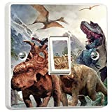 Dinosaurs Single Light Switch Sticker Vinyl Cover Skin Wall Decal Bedroom by Inspired Walls®