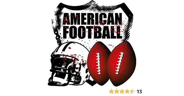 Nfl American Football Helmet Balls Hochwertigen Auto Autoaufkleber 12 X 12 Cm Küche Haushalt