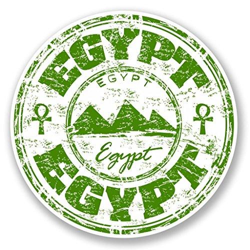 Preisvergleich Produktbild 2x Ägypten Vinyl Aufkleber Aufkleber Laptop Reise Gepäck Auto Ipad Schild Fun # 5778 - 10cm/100mm Wide