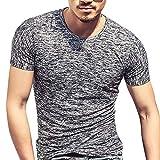 Mymyguoe Männer Kurz Tops Einfarbig Poloshirts Running-Shirts für Herren Kurze Ärmel Hemden Solide Fun-T-Shirts Freizeitshirt Bedruckt Sportswear Business Hemden Bandage Sweatshirts Outdoor T-Shirts