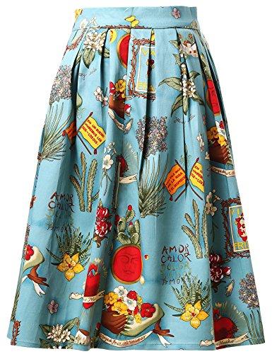 Grace Karin, Gonna Corta da Donna ad Altezza Ginocchio in Stile Vintage Anni '50 (CL6294) CL6294-6 M