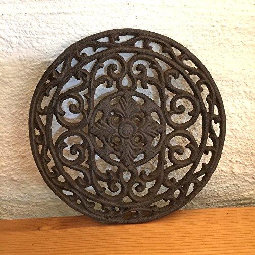 Antikas - Ofengitter rund - Antike Luftgitter Kamin Warmluftgitter Ofen Lüftungsgitter