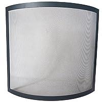 Home Discount® Buckton Spark Guard Fire Screen, Black