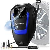 OneAmg Digitale bandeninflator luchtcompressor HD touchscreen, draagbare luchtcompressor, 12V 150 PSI autobandenpomp met auto