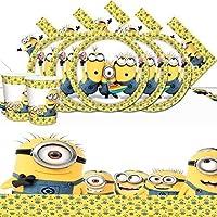House of party - Set Minions da compleanno per 8 persone con piatti 7ac0bca6640