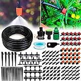 Landrip DIY Système d'Arrosage Automatique, Kit d'irrigation Goutte à Goutte et de vaporisation Système de brumisation pour Jardin Serre Potager Pelouse