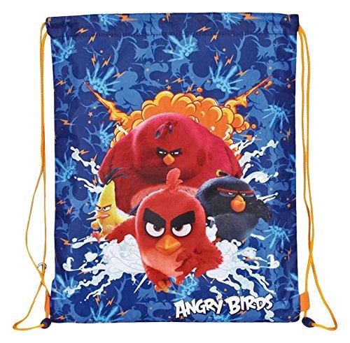 Perletti Sac de Gym Garçon Angry Birds - Sac à Dos...
