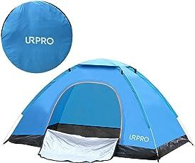 URPRO Pop-up-Zelt für 2 Personen, leicht, wasserdicht, Winddicht, UV-Schutz, perfekt für Strand, Outdoor, Reisen, Wandern, Camping, Jagd, Angeln, Etc.