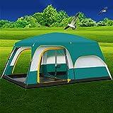 MIAO Outdoor Zwei Zimmer Zimmer 8-10 Personen Großes Luxus Camping Zelt