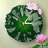 HOMEE Reloj de pared de resina de viento de Lotus de China Reloj de pared de dormitorio de salón mudo