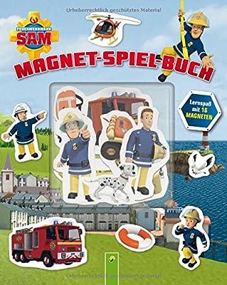Feuerwehrmann Sam Magnet-Spiel-Buch: Lernspaß mit 16 Magneten