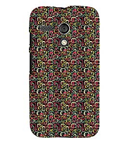 PrintVisa Corporate Print & Pattern Art 3D Hard Polycarbonate Designer Back Case Cover for Motorola Moto G