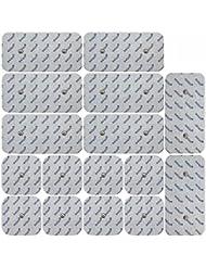 Axion - set de 16 électrodes pour électrostimulateurs compex - 8 x 10*5 cm + 8 x 5*5 cm - uniquement compatible avec les appareils Compex - connecteurs snap