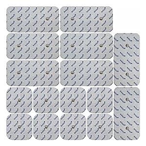 16 Elektroden Pads Mischset passend zu Compex EMS TENS mit Druckknopf Snap Anschluss.