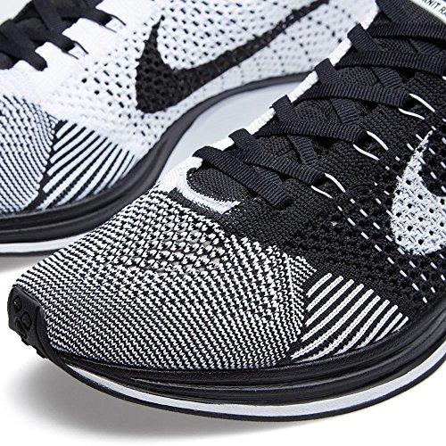 Nike Herren Flyknit Racer Laufschuhe Blanco (Blanco (black/white))